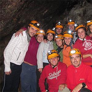 Visitas a cuevas. Espeleología.