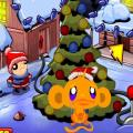free game Happy monkeys and Christmas tree